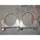 "Exhaust Pipe Clamp, 2"", Pair"