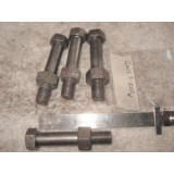 Steering Knuckle to Upper Control Arm bolt, Original Set of 4 with M Headmark.  55-67 Chevy, Corvair, Corvette Corvette