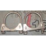 "Exhaust Pipe Clamp, Stainless Steel, 1-7/8"", Pair"