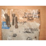 Drive Shaft & U-Joint Strap Bolt. GM 14018700.  Set of 4