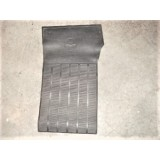 Floor Mat w/Bowtie, Passenger Side Black Rubber. New.  63-67 Corvette