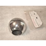 Console Shifter Knob, Chromed Steel, New.  64-68 Corvette 4 speed, 69 Corvette 3 speed