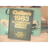 Chilton 1983 Automotive Service Manual, Hard Bound Book, Professional Mechanics Edition