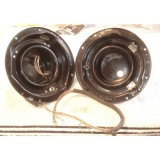 Headlight Bucket Assembly, Original Pair w/Wiring Extension, Bulb Cup, & Bezel Ring.  55 Chevy