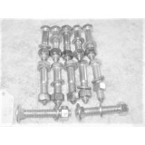 Body Mount Bolt, New Set of 12.  53-62 Corvette