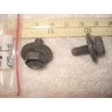 "Gas Tank Filler Door Mount Bolts, New Pair w/""Anchor"" Symbol.  53 Corvette"