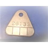 Carburetor Tag, New 2613S, 57 Chevy Factory Race Car, 58-61E Corvette