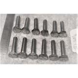 Deck Lid / Trunk Hinge Tower Arm Mount Bolt Set, New 12 pieces.  53-58 Corvette