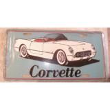 License Plate, Metal.  53-55 Corvette