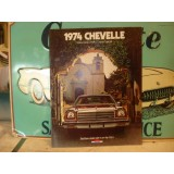 Dealer Sales Brochure, New Original, Set of 3 1974 Chevrolet Chevelle  Dealer Brochures, 1 is Dealer Stamped