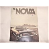 Dealer Sales Brochure, 1974 Chevrolet Nova, New Original.  Dealer Stamped Traders Chevrolet, Greensboro, NC