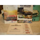 Dealer Sales Brochure Lot of 3, 1975 Chevrolet Models.  New Original