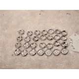 Countersunk Finishing Washer, #8, Nickel on Brass, New Set of 28.  50's - 60's GM Cars