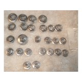 """Speed Nut Lot, original with """"PAL"""" Stamp.  Lot of 25.  61-67 Corvette, and many other GM cars & Trucks"""
